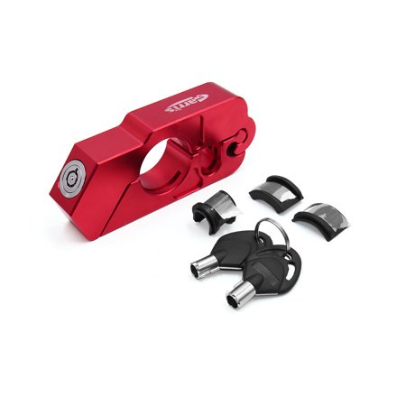 Brake Lever Grips - Red Motorcycle Handlebar Brake lever Grip Security Anit Theft Lock w 2 Key