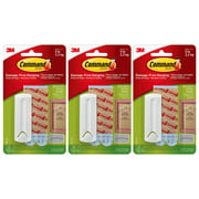 Command Wire Back Picture Hanger Damage Free Adhesive Picture Frame Locks In Place Strong Hold Up To 5 LB3M 17041 Large 1 Hanger 2 Strips Per Pack White, 3-Pack