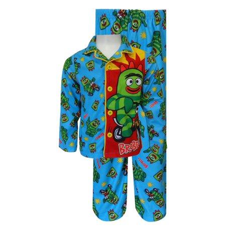 nickelodeon yo gabba gabba brobee toddler pajama set walmart com
