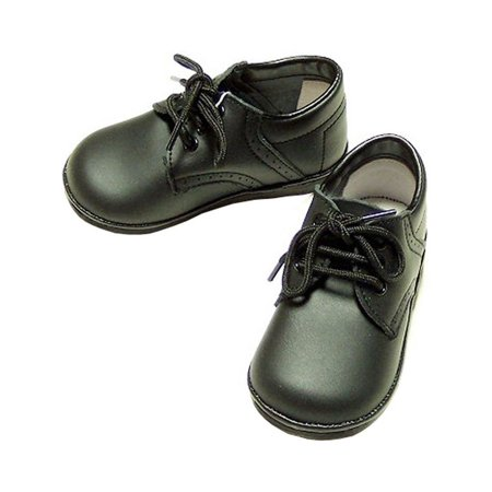 Angel Baby Shoes Baby Toddler Boys Black Classic Saddle Style