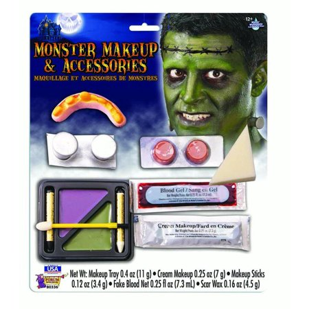 Monster Halloween Face Paint Character Costume Makeup - Split Face Halloween Makeup