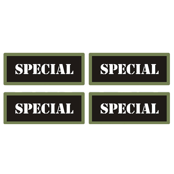 "Special Ammo Can 4 Pack 3"" Black Sticker Gun Ammunition Box Case Decal"