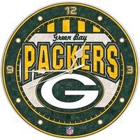 Green Bay Packers Art-Glass Wall Clock - No Size