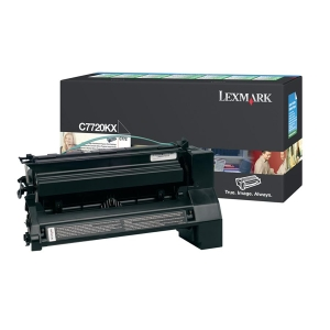 Lexmark Black Extra High Yield Return Program Toner Cartridge LEXC7720KX
