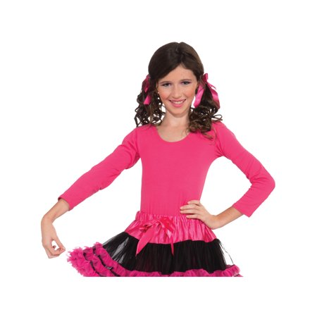 Ballerina Ballet Dancer Costume Accessory Pink Kids Girls Leotard