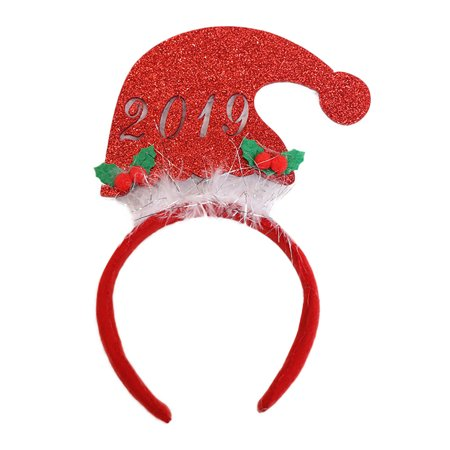 Party Headdress Headband Christmas Stretch Headwear Hair Band Decorative A