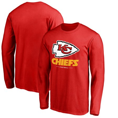 Kansas City Chiefs Jersey - Kansas City Chiefs NFL Pro Line by Fanatics Branded Team Lockup Long Sleeve T-Shirt - Red