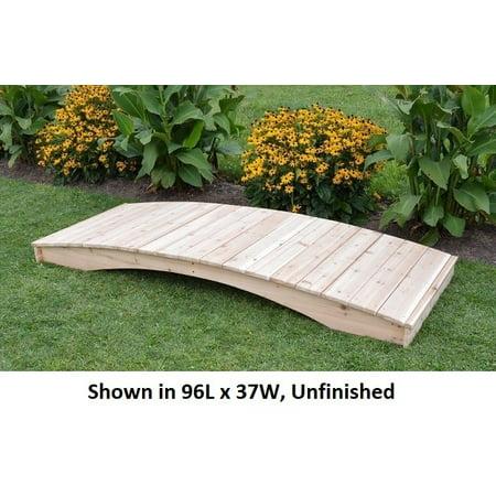 Backyard Crafts Mushroom Stained Weight-Bearing Cedar Plank Garden Bridge - 3' x 4' (Plank Cedar Garden Bridge)