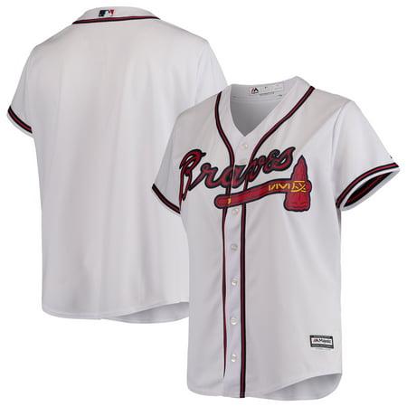 Atlanta Braves Majestic Women's Plus Size Cool Base Team Jersey - White Atlanta Braves Home White Jersey