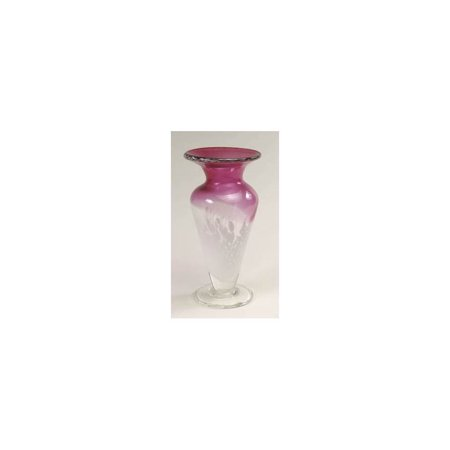 (Two-Tone Glass Vase in Cranberry and Opal)