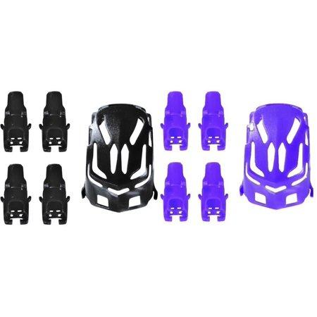 Estes Body Tubes - HobbyFlip Black/Purple Body Shell Quadcopter Frames w/ Motor supports for Estes Proto-X
