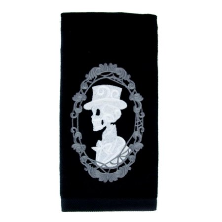 Haunted Mansion His Skeleton Halloween Hand Towel Kitchen and Bath Gothic Home Decor (Gothic Halloween Decor)