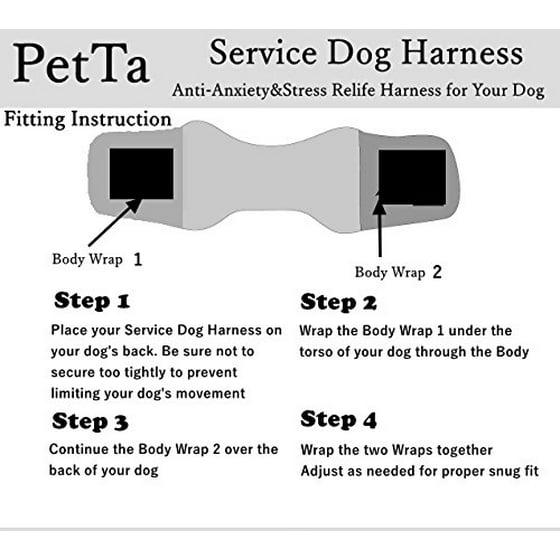 EXPAWLORER Anti Anxiety Stress Relief Service Dog Harness
