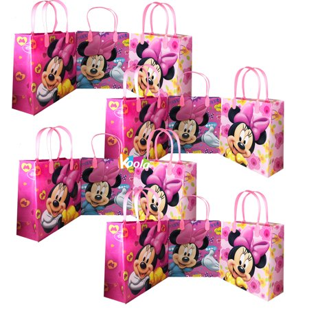 Disney Medium Goody Bags, Minnie Mouse Party Favor Goodie Bags Gift Bag Birthday 12pcs](Goodie Or Goody)
