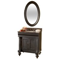 "Guild Hall 36"" Vanity in Distressed Black Sherwin Williams Finish, Vanity Only, Kaco Model# 725-3600-B"