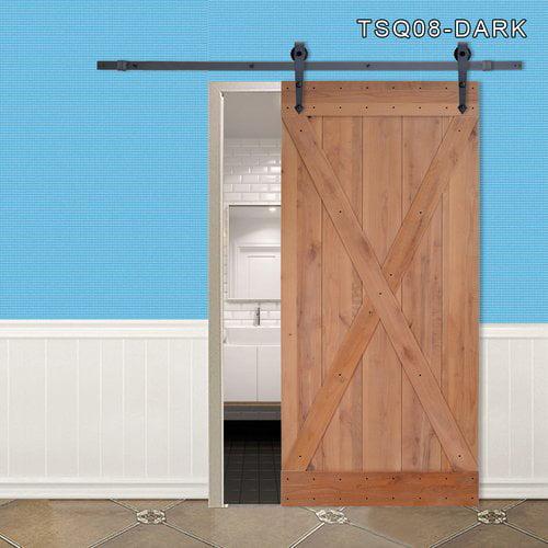 Calhome Paneled Wood Finish Barn Door without Installation Hardware Kit