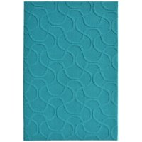 """Garland Rug Brentwood Drizzle Teal 7'6""""x9'6"""" Abstract Indoor Area Rug"""