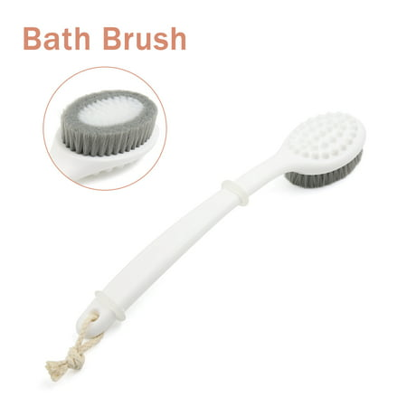 13 4 White Back Body Extra Long Handle Bath Brush For Shower Cleaning