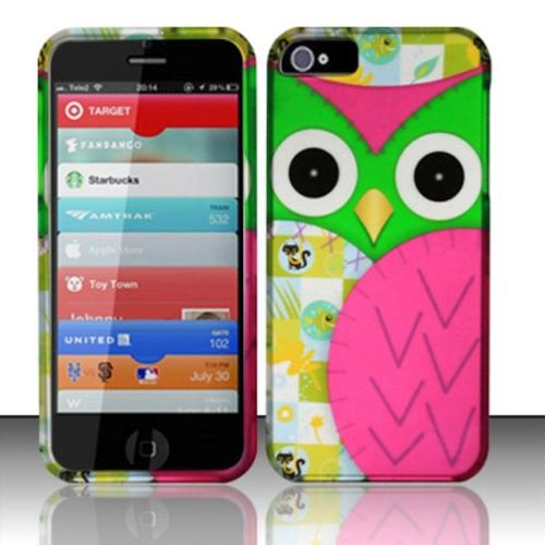 Insten Owl Colorful Patterns Hard Case Snap-On Cover Skin For APPLE iPhone SE 5S 5