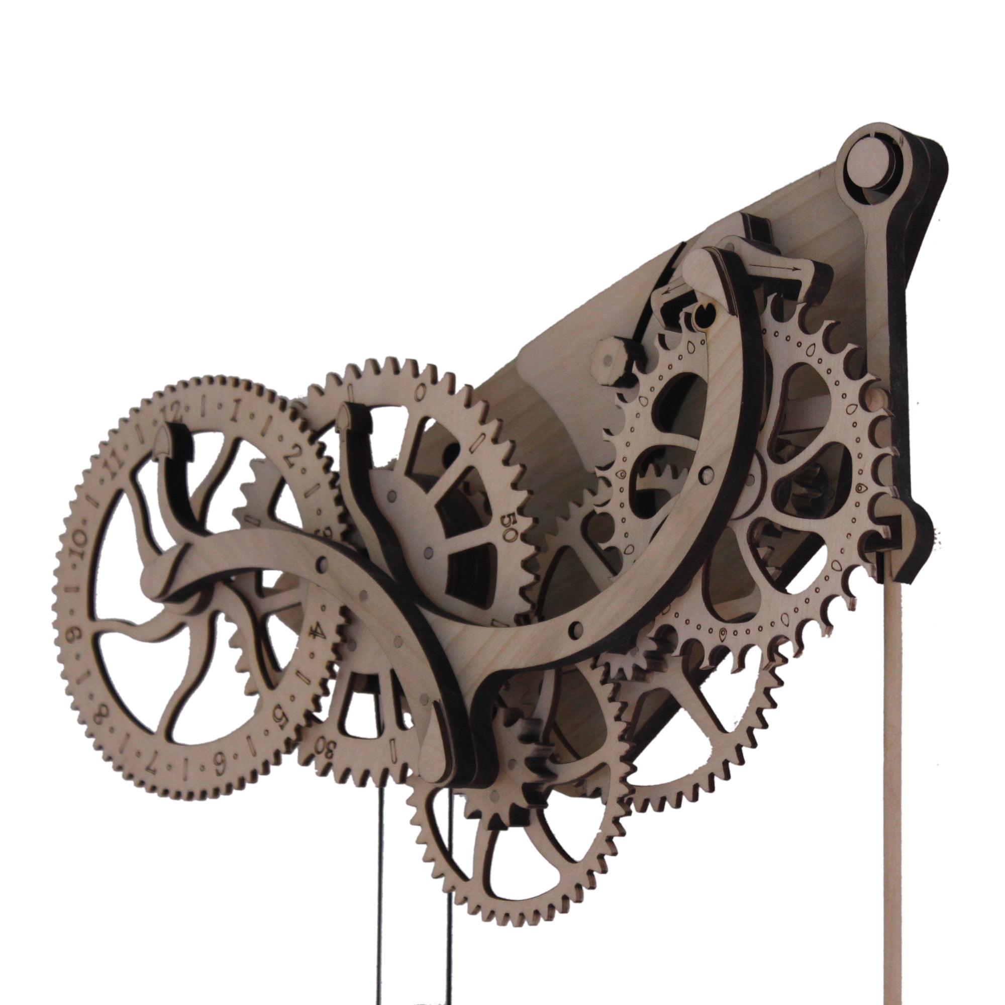 Image of Abong - Mechanical Wooden Clock Kit