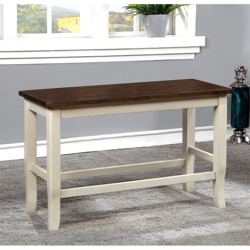 Furniture Of America Jack Counter Height Dining Bench In Cherry