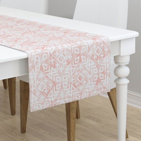 Table Runner Pink Blush Moroccan Trendy Tribal Modern Cotton Sa