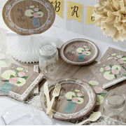 large rustic wedding deluxe bridal shower party supplies kit