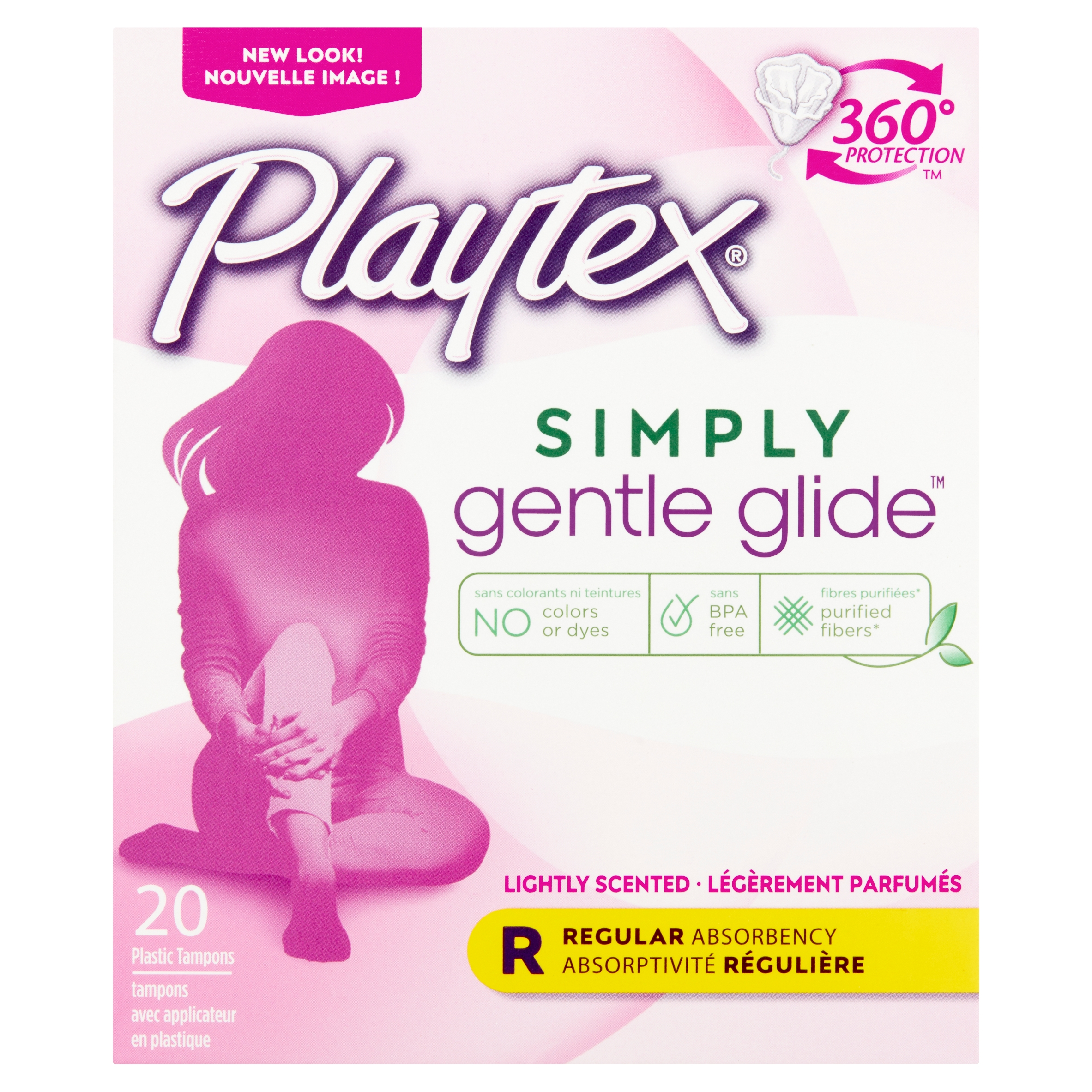 Playtex Simply Gentle Glide Scented Tampons, Regular Absorbency, 20 Ct