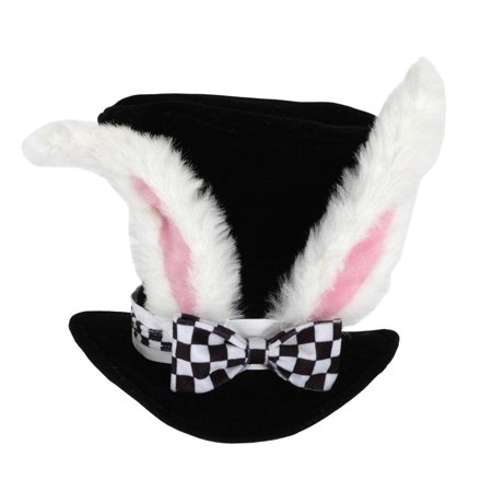 Alice In Wonderland White Rabbit Topper Costume Hat Adult One Size