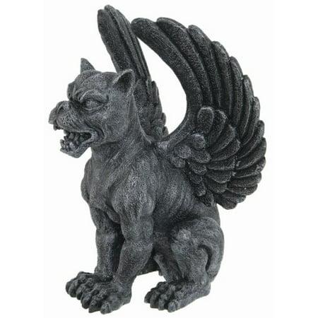 Resin Medieval Sitting Winged Lioness Gargoyle Figurine Statue