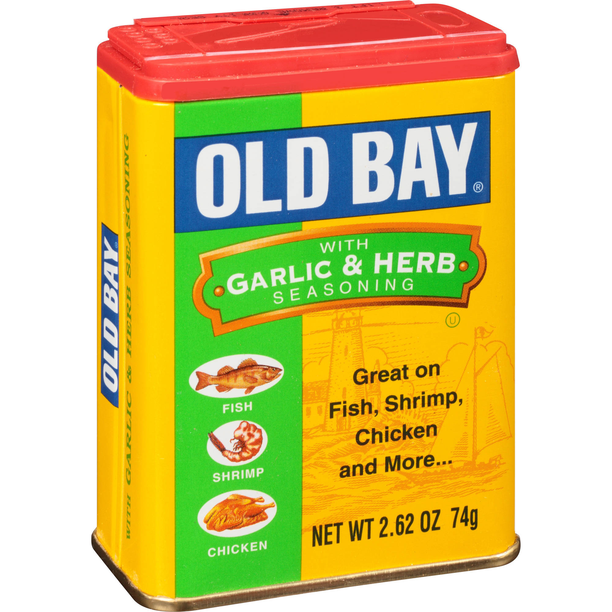 Old Bay With Garlic & Herb Seasoning, 2.62 oz