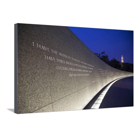 Martin Luther King Jr National Memorial, a Monument to Civil Rights Leader, Washington, DC Stretched Canvas Print Wall Art By Joseph