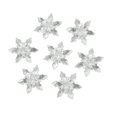 Diamond Gems: Acrylic, Snowflakes, Clear