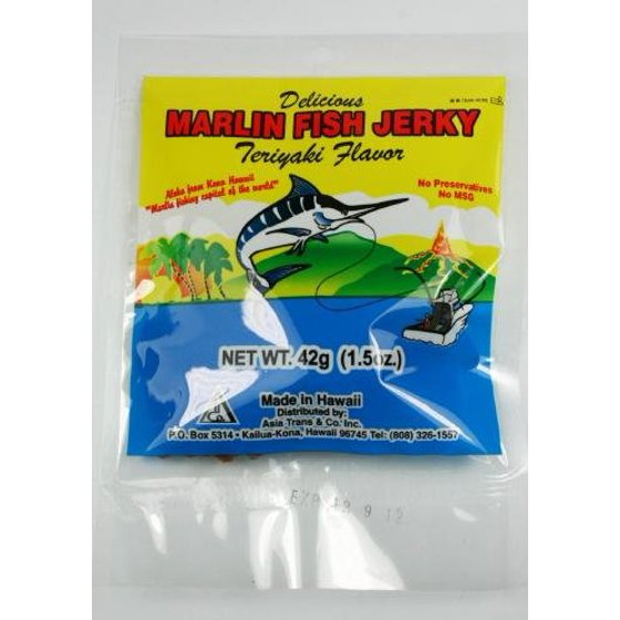 Gourmet Hawaiin Marlin Jerky Sampler Gift Pack (3pk)- Smoked