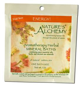 Natures Alchemy - Aromatherapy Mineral Baths, Energy 1 oz