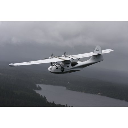 Boras Sweden - Consolidated PBY Catalina vintage flying boat in US Army Air Force naval rescue colors Poster Print