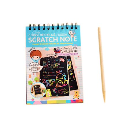 Fun DIY Doodling Drawing Magic Scratch Painting Book Kids Learning Christmas Gift (Magic Color Scratch Halloween)