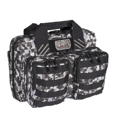 G P S Tactical Quad 2 Pistol Range Bag Gray Digital