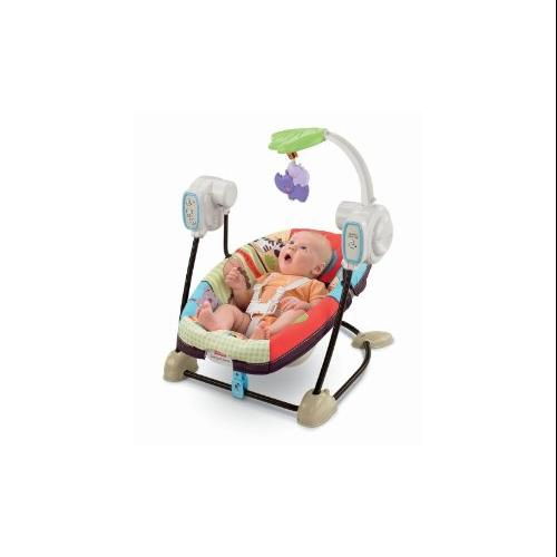 Fisher Price Luv U Zoo SpaceSaver Swing & Seat by Fisher-Price