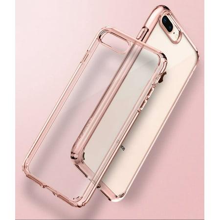 Spigen Ultra Hybrid 2 Works with Apple iPhone 8 Plus Case (2017)/ iPhone 7 Plus Case (2016) - Rose Crystal