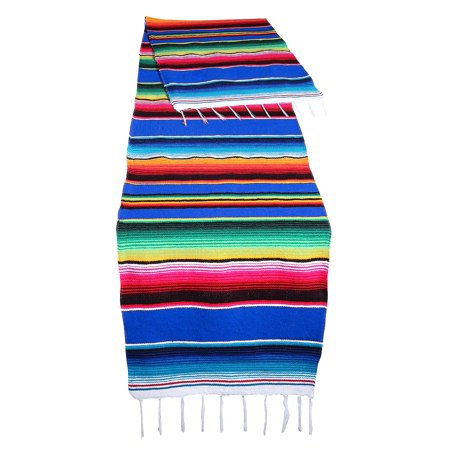 Genuine Mexican Table Runner Saltillo Serape Colorful Striped Sarape Made in Mexico 83