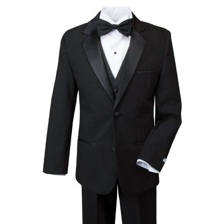 Spring Notion Boys' Modern Fit Tuxedo Set Black](Boys Tuxedo)