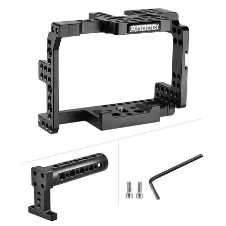 Andoer Protective Video Camera Cage Stabilizer Protector w/ Top Handle for Sony A7II A7RII A7SII Mirrorless Camcorder - image 7 de 7