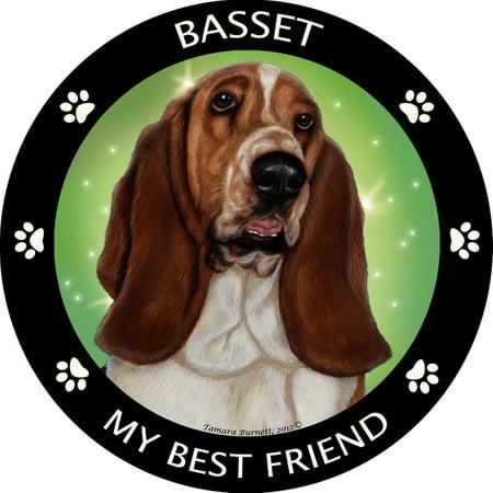 Basset Hound My Best Friend Magnet