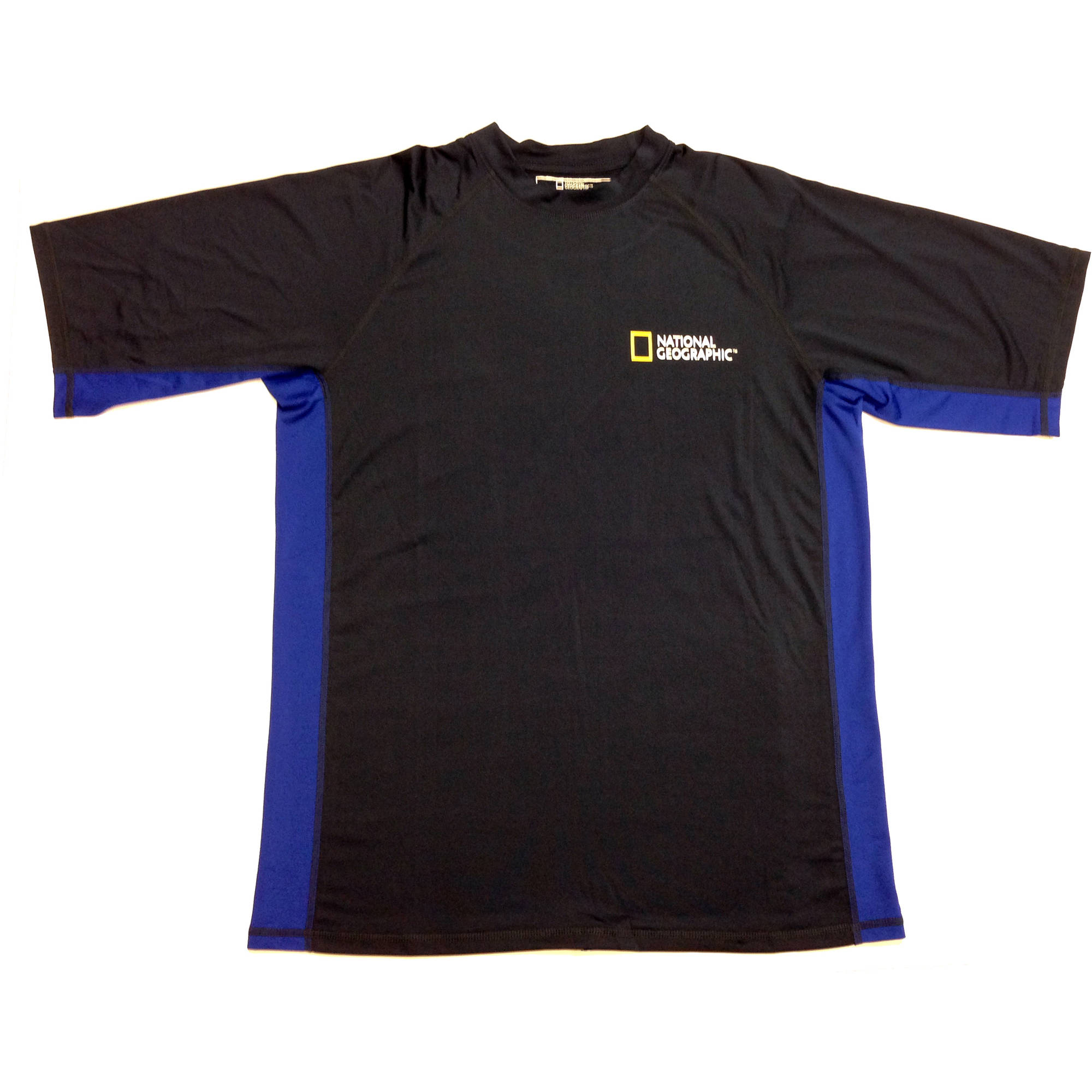 National Geographic Snorkeler Men's Short Sleeve Rash, Navy with Royal Blue, MD