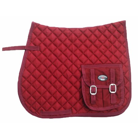 - Horse Quilted ENGLISH SADDLE PAD Trail Aussie Australian Dressage Pockets 7287