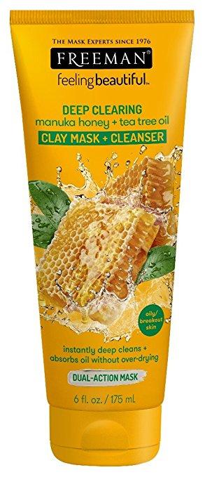 Gesichtsmaske mit Entfettung für die Tiefenreinigung Freeman, Manuka Honig + Teebaumöl 6 oz