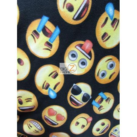 David textiles fleece printed fabric my emoji friends for Emoji material by the yard