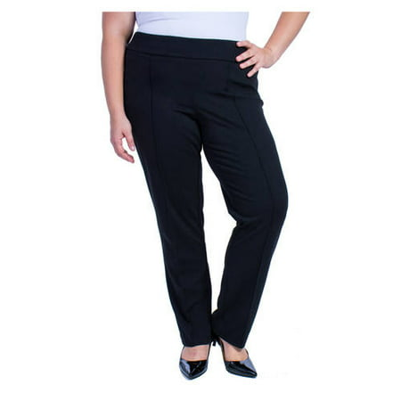 ade0c56a00f42 George - Women s Plus-Size Ponte Career Suiting Pants - Walmart.com