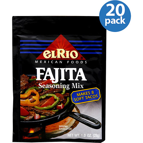 El Rio Fajita Seasoning Mix, 1 oz, (Pack of 20)